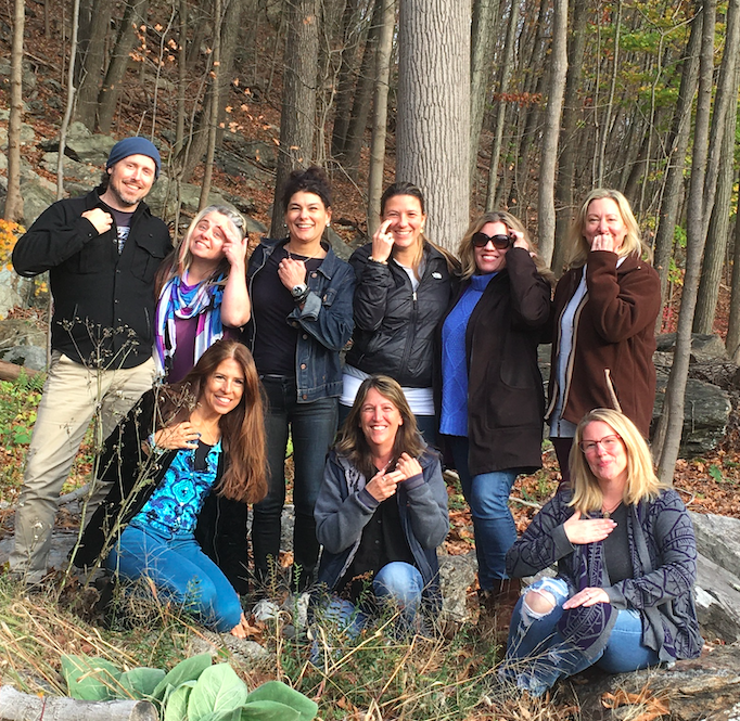 Class picture from EFT Level 1 and 2 in Ridgefield, CT, November 2019